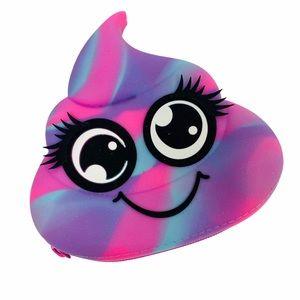 Handbags - NEW Tie Dye Poop Emoji Make Up Bag